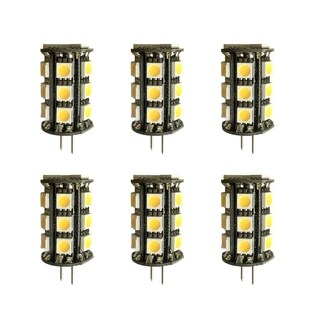 Led g4 outdoor rated, 3000k, 360°, cri80, fcc, 3w, 35w equivalent, 30000hrs, lm260, dimmable, input voltage 8-18v ac 6 pack