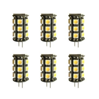 Led g4 outdoor rated, 3000k, 360°, cri80, fcc, 2.5w, 30w equivalent, 30000hrs, lm180, dimmable, input voltage 8-18v ac 6 pack