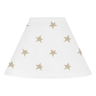 Sweet Jojo Designs Gold and White Star Celestial Collection Lamp Shade
