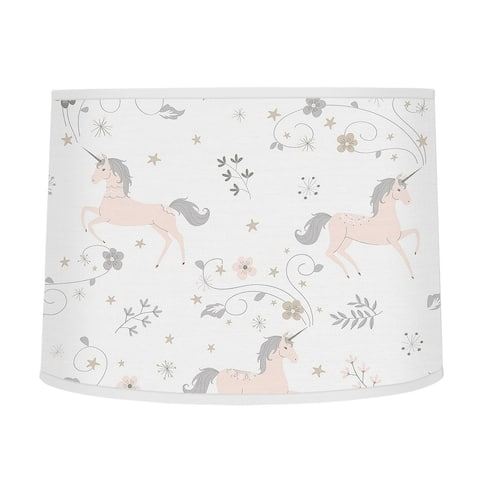 Sweet Jojo Designs Pink, Grey and Gold Unicorn Collection Lamp Shade