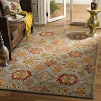 Safavieh Handmade Heritage Charcoal/ Multi Wool Rug (8' x 10') - 8' x 10'
