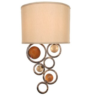 Van Teal 771855 Fun Wheels Gold-finish Beige Shade 20-inch Wall Sconce