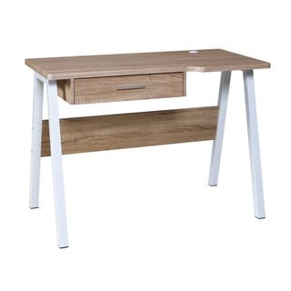 Link to OneSpace Basics 50-LD02OK Desk with Drawer and Dual USB Charging Station, Oak Similar Items in Desks & Computer Tables
