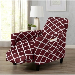 Home Fashion Designs Tori Collection Diamond Printed Form Fit Stretch Recliner Slipcover (2 options available)