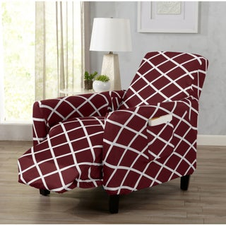 Home Fashion Designs Tori Collection Diamond Printed Form Fit Stretch Recliner Slipcover