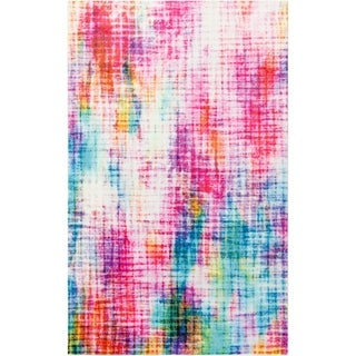 Mohawk Home Prismatic Linear Pixel Area Rug (5x8) (5 x 8 - retro)