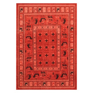 Handmade Herat Oriental Indo Hand-knotted Tribal Moroccan Wool Rug (5'2 x 7'5)