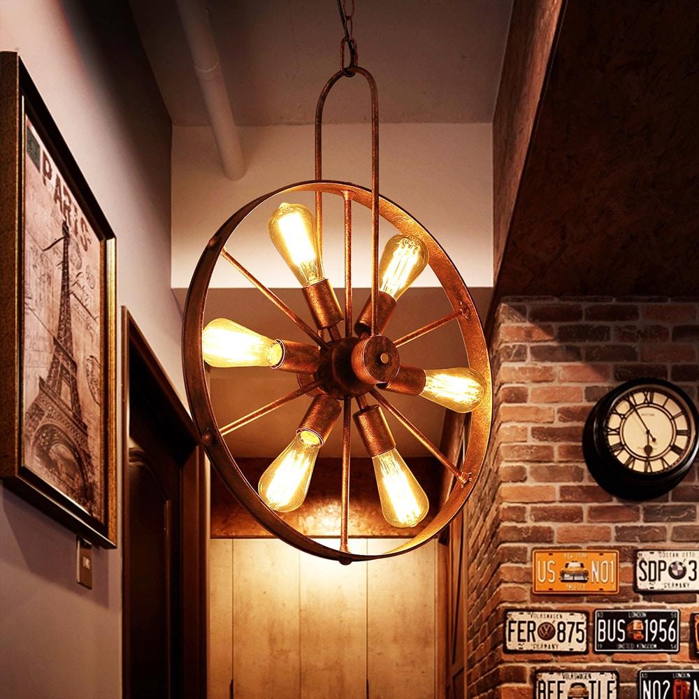 Saralin 6 light rustic wagon wheel chandelier ebay saralin 6 light rustic wagon wheel chandelier arubaitofo Gallery