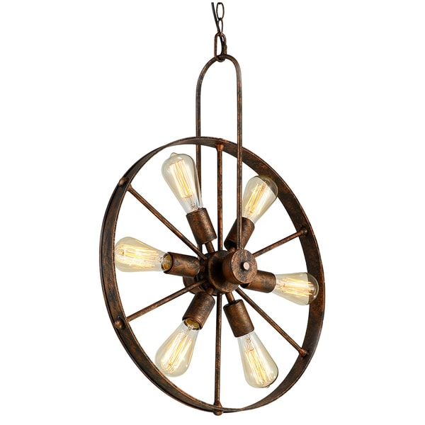 Saralin 6 Light Rustic Wagon Wheel Chandelier cdf799b3 2c7f 4c9b 8f41 7e00bc080c02_600 mesmerizing wire mesh wagon wheel chandelier pictures wiring Connecting a Wire Chandelier at nearapp.co