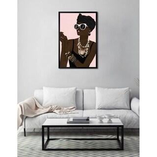 Oliver Gal 'Fashion Girl Xoxo ' Framed Art