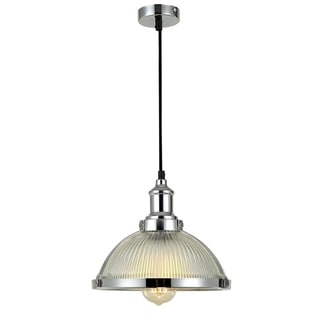 Link to Kopant 1-light Frosted Shade Glass Chrome  Pendant Edison Bulb Included Similar Items in Decorative Accessories