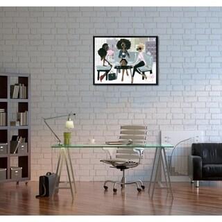 Oliver Gal 'Cocktail O'Clock' Framed Art