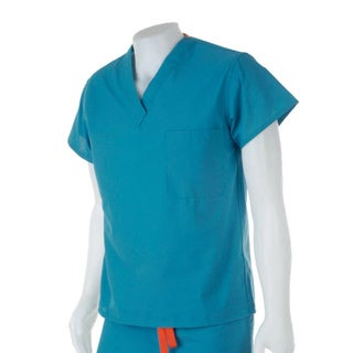 Medline Unisex Reversible Peacock Scrub Top