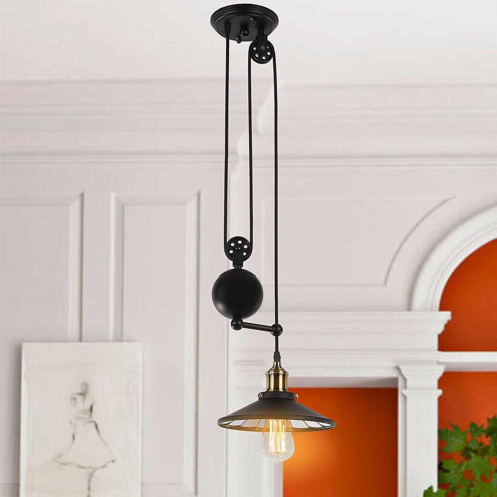 Warehouse of Tiffany Tehno 1-Light Black Pendant Edison B...