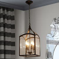 Suntin 4-Light Black Chandelier Edison Bulbs Included