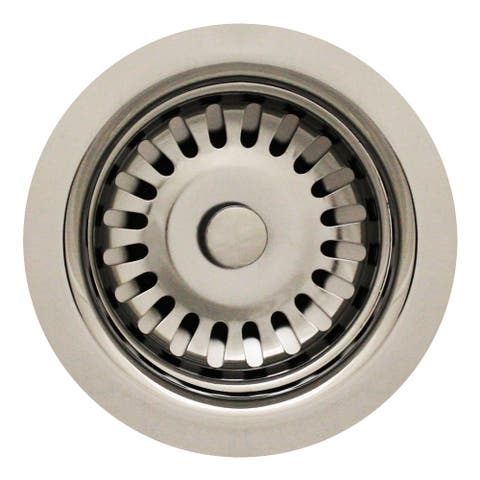 "Whitehaus Collection 3 1/2"" Basket Strainer for deep fireclay application"