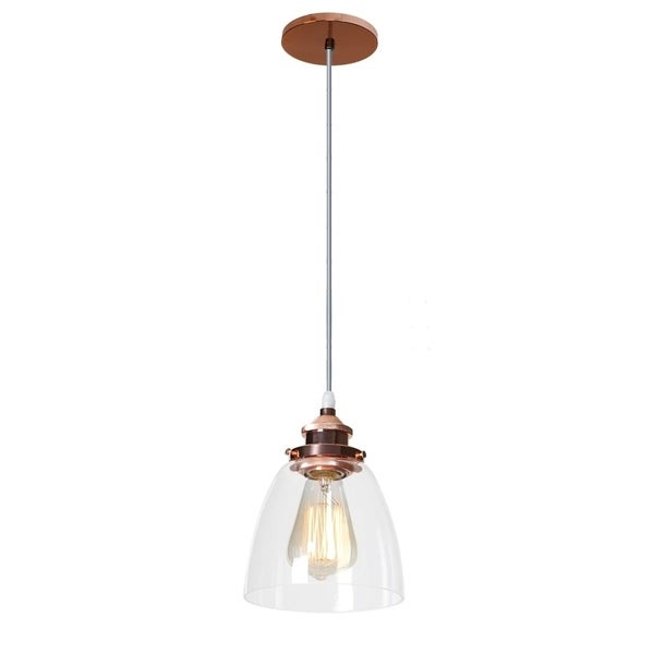 Shop Maret 1-Light Rose Gold- Shaded Pendant Edison Bulb