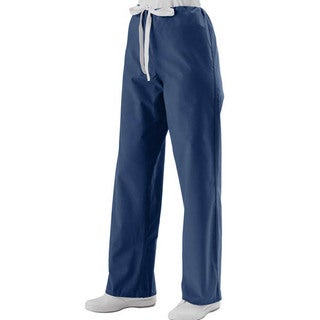 Medline Unisex Navy Reversible Drawstring Scrub Pants