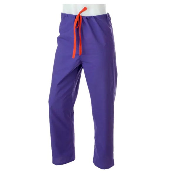 Medline Unisex Reversible Purple Drawstring Scrub Pants