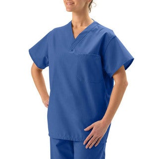 Medline Sapphire Unisex Reversible Sapphire Scrub Top (2 options available)