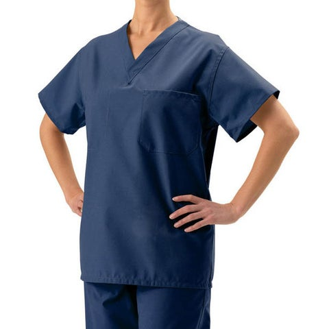 Medline Unisex Navy Blue Reversible Scrub Top