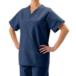 Medline Unisex Reversible Navy Scrub Top|https://ak1.ostkcdn.com/images/products/1888400/P10215931.jpg?impolicy=medium