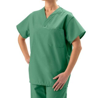 Medline Unisex Reversible Jade Cotton Scrub Top (4 options available)