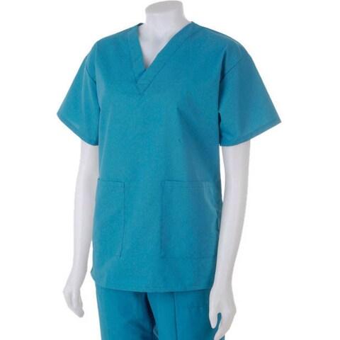 Medline Hospital Quality Women's Two Pocket Scrub Top Peacock
