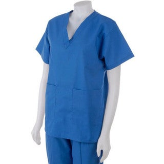 Medline Hospital Quality Women's Two-pocket Scrub Top Sapphire