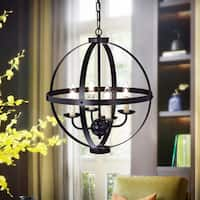 Nisic 4-Light 17-Inch Oil Rubbed Bronze Globe Pendant