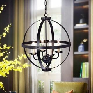 Nisic 4-Light 17-Inch Oil Rubbed Bronze Globe Pendant