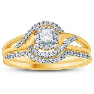 1/3 Carat TW Diamond Engagement Ring in 10K Yellow Gold