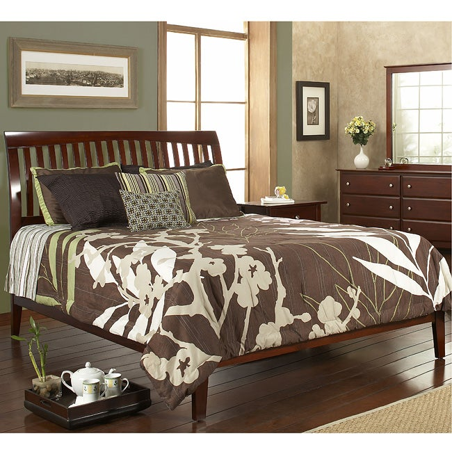 Contemporary Shaker Full-size Sleigh Bed - Thumbnail 0