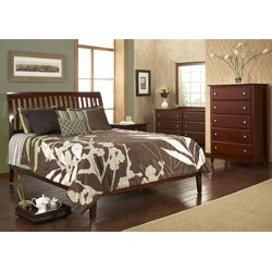 Contemporary Shaker Full-size Sleigh Bed - Thumbnail 1