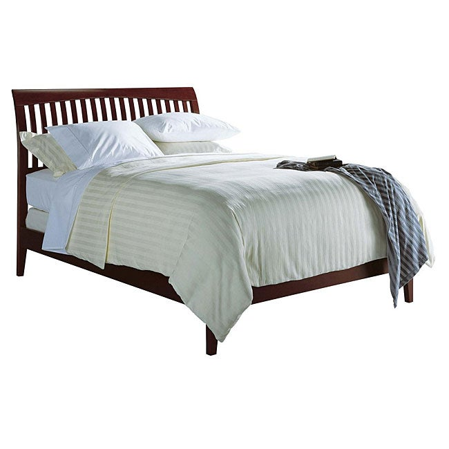Contemporary Shaker Queen-size Sleigh Bed