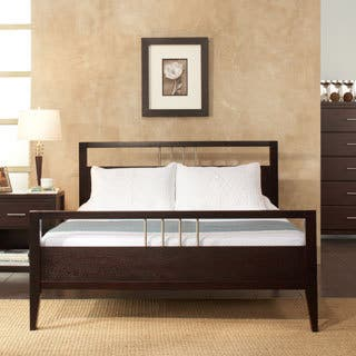 Chrome Accented King Size Platform Bed