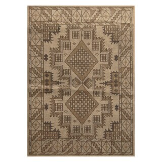 Handmade Herat Oriental Indo Hand-knotted Tribal Moroccan Wool Rug (5'4 x 7'6)