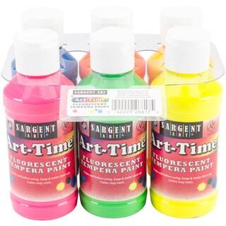 Art-Time(R) Tempera Paint Set 4oz 6/Pkg