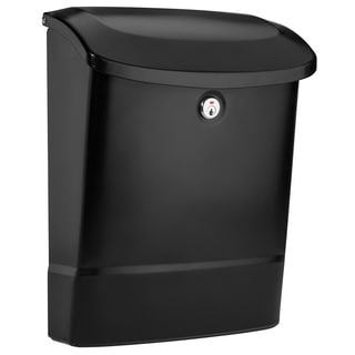 Architectural Mailboxes Parkside Locking Wall Mount Mailbox Black