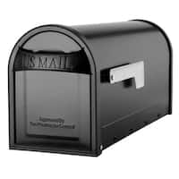 Carlisle Mailbox Black with Nickel Flag