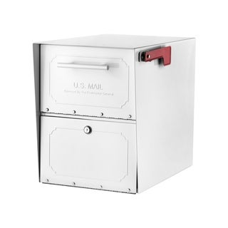 Oasis Classic High Security Post Mount Mailbox withWhite