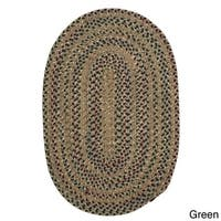 Colonial Mills Multicolored Reversible Oval Area Rug (9' x 12')