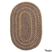 Comfort-Braid Multicolored Reversible Oval Area Rug USA MADE - 5' x 8'