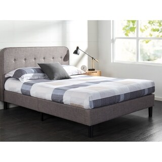 Priage Upholstered Curved Platform Bed