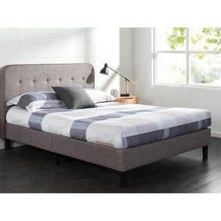 Priage by Zinus Upholstered Curved Platform Bed