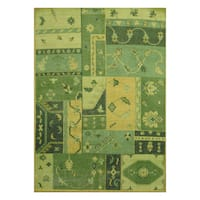 Handmade Herat Oriental Indo Hand-knotted Tribal Moroccan Wool Rug - 5'4 x 7'5 (India)