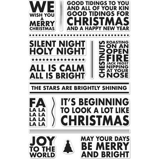 Hero Arts Clear Stamp Poster Christmas Carols