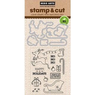 Hero Arts Stamp & Cut Jingle All The Way