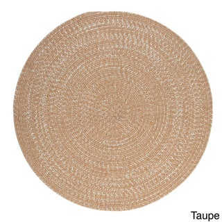 Urban Blend Reversible Round Braided Area Rug USA MADE - 7' x 7' (Option: Taupe)