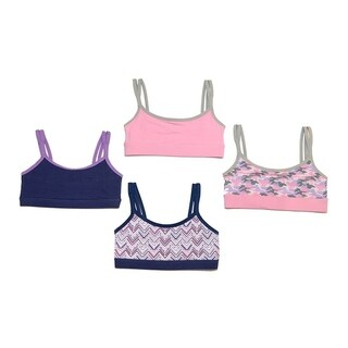 RBX Girls 2 Pack Cotton Strappy Sports Bra
